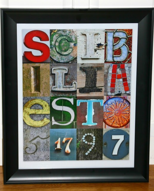 How To Make Letter Collage Art