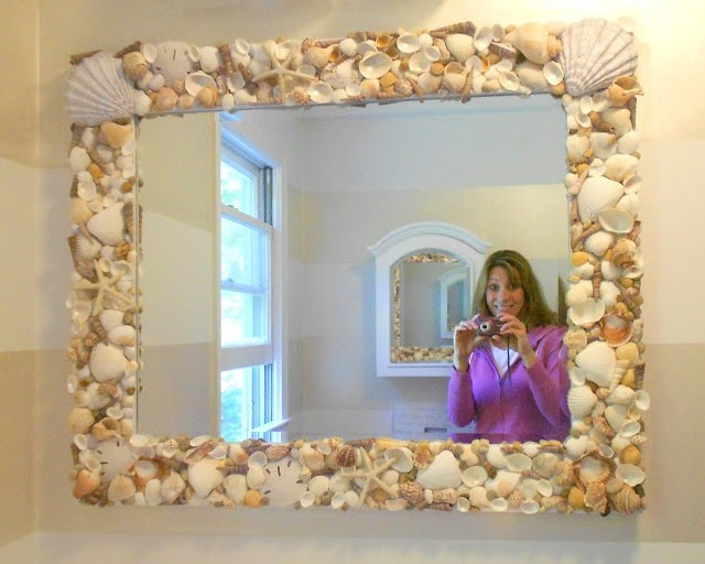 A Shell Mirror Tutorial For Your Treasures From The Sea