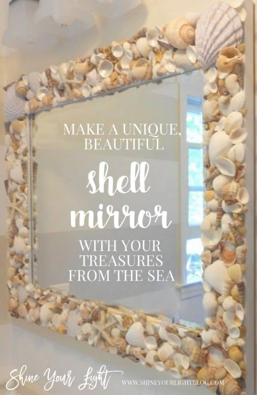 DIY shell mirror tutorial by Shine Your Light.
