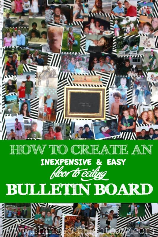 Cover an entire wall with a bulletin board.
