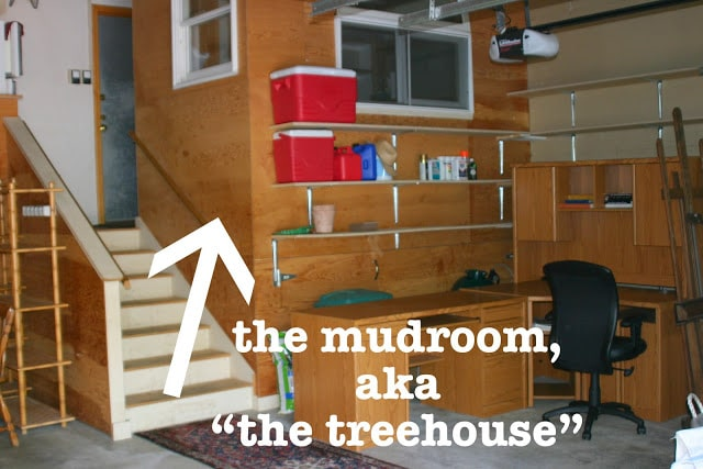 Mudroom Makeover::  The Treehouse