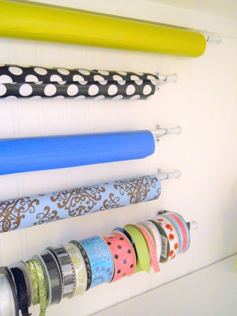 Wrapping Paper & Ribbon Storage