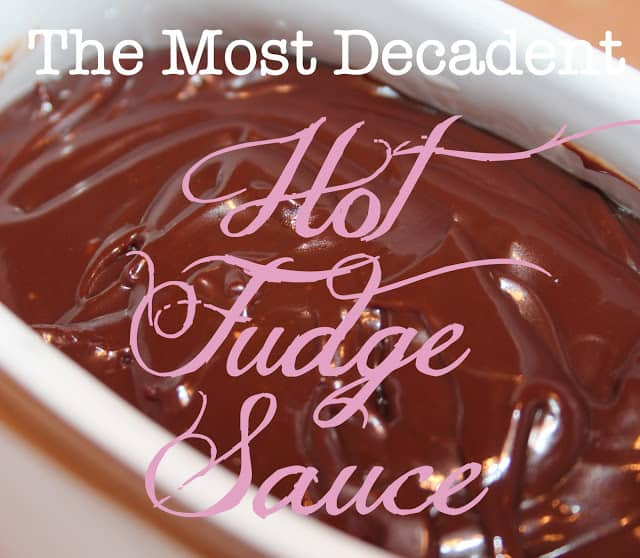 Rich and decadent homemade fudge sauce