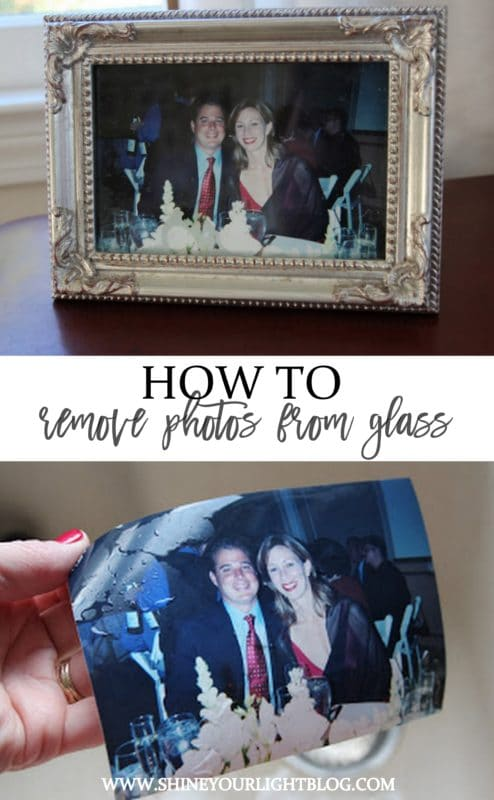 How to remove a photo that has stuck to the glass of a picture frame.