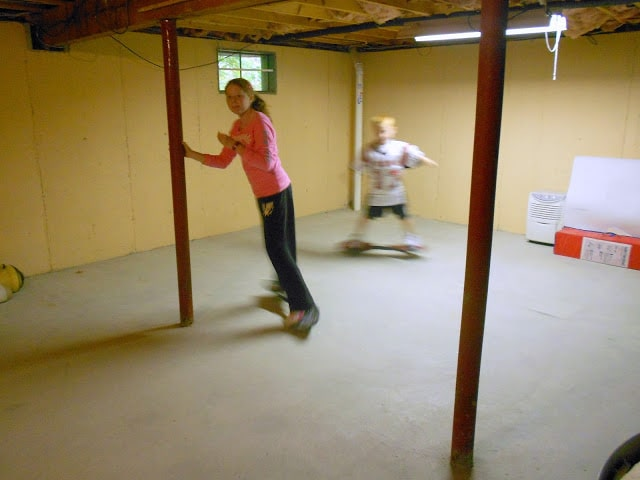 Before and After Friday:  Our Basement
