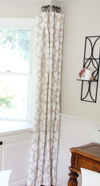 Stenciled Drop Cloth Curtain Tutorial - Shine Your Light