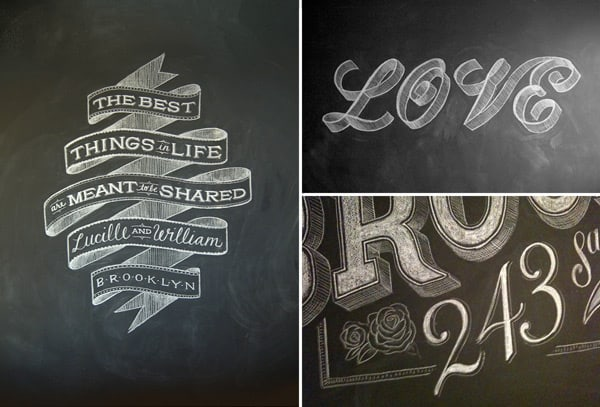 Fancy Chalkboard Lettering Shine Your Light