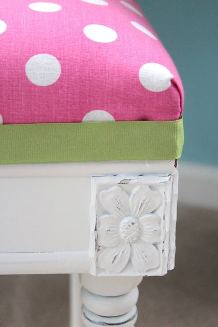 A Vanity Stool For A Girl's Room