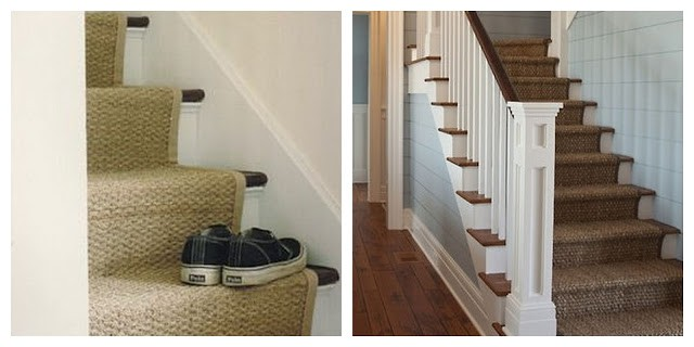 Lighting Basement Washroom Stairs: How To Install A Seagrass Stair Runner