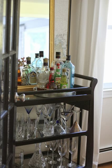 Baby Changing Table Turned Bar Cart