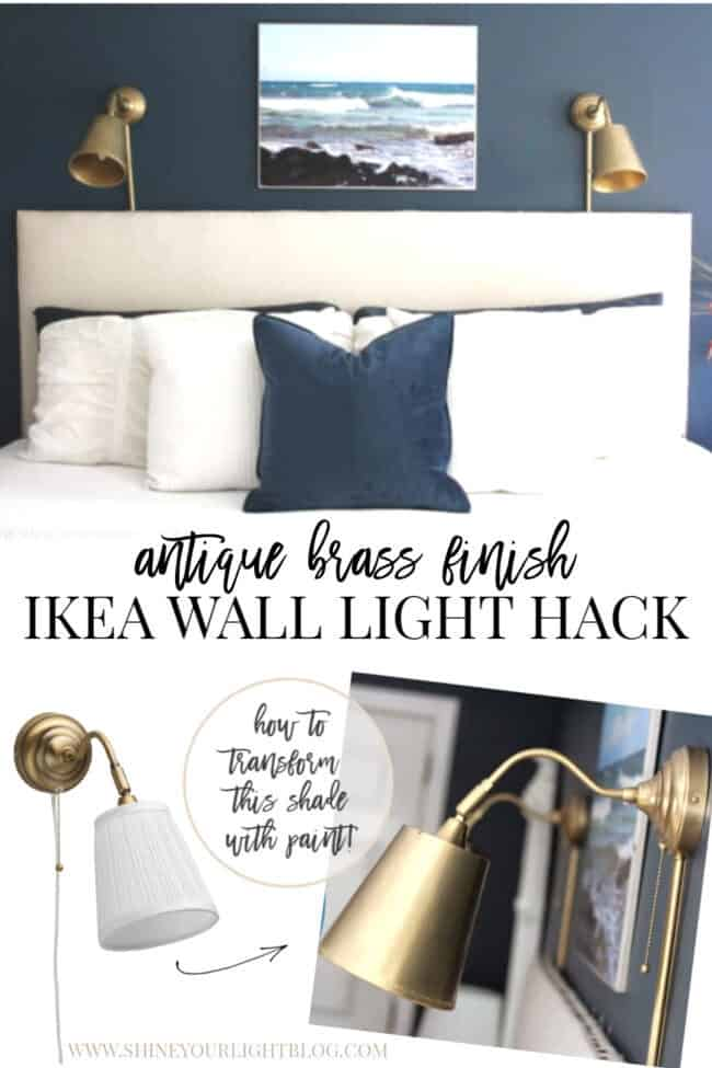 Ikea Wall Light Hack With Antique Brass Finish