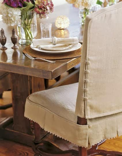 Snazzy Dining Chair Slipcover Styles Shine Your Light