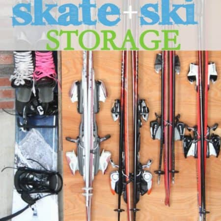 how to hang skis and skates easily