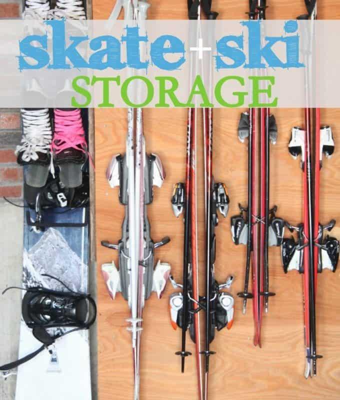 how to hang skis and skates easily