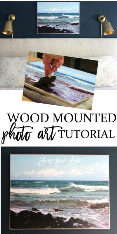 How to mount a photo onto wood.