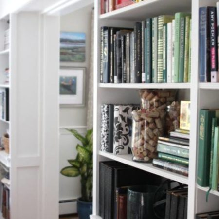 One Room Challenge, The Reveal:  Built In Bookcases