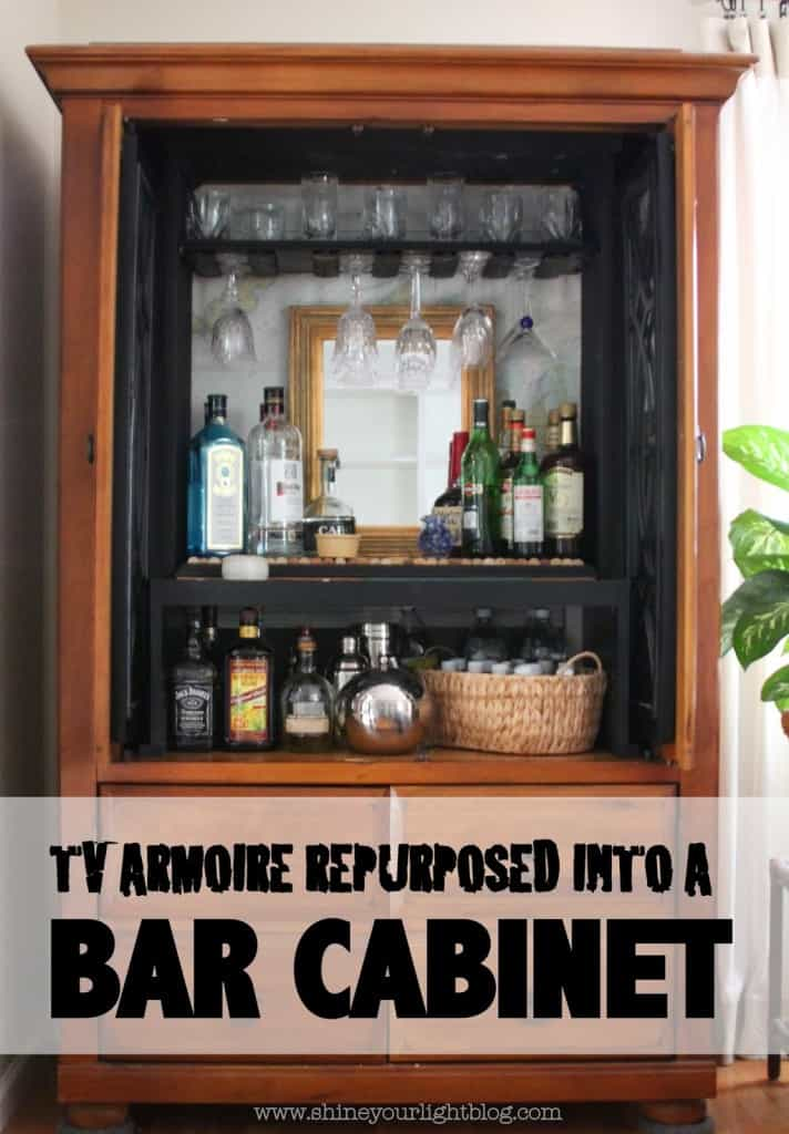 Tv Armoire Turned Bar Cabinet Shine Your Light