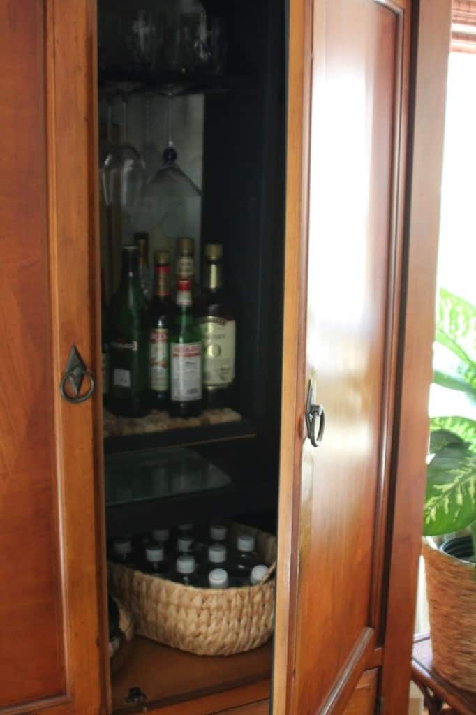 TV Armoire Turned Bar Cabinet - Shine Your Light