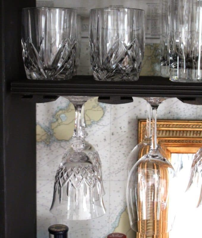 TV Armoire Turned Bar Cabinet