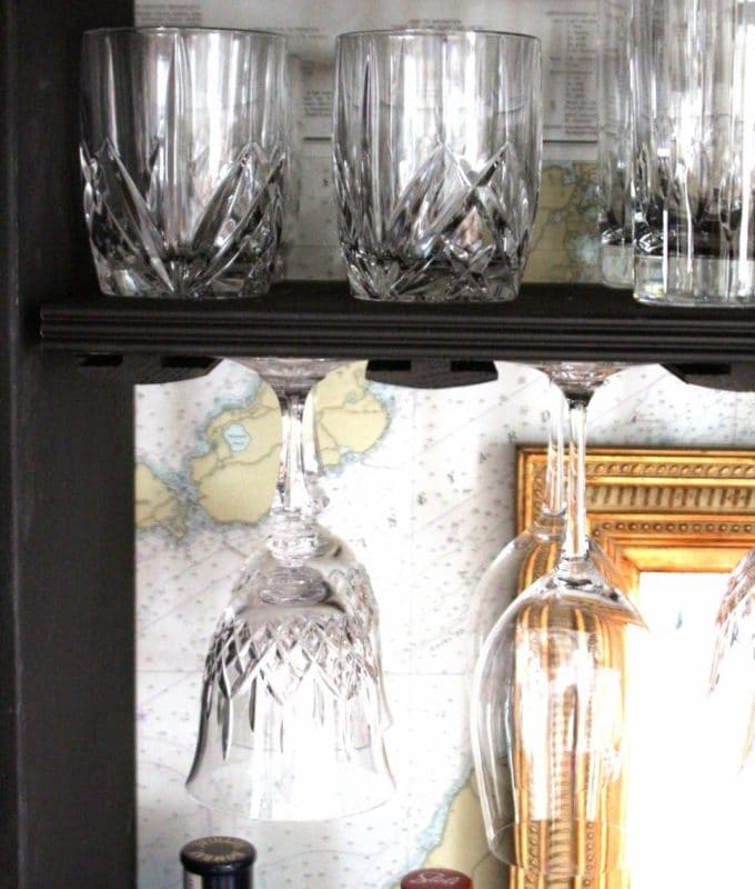 The Upcycling Of An Armoire Into A Bar Cabinet