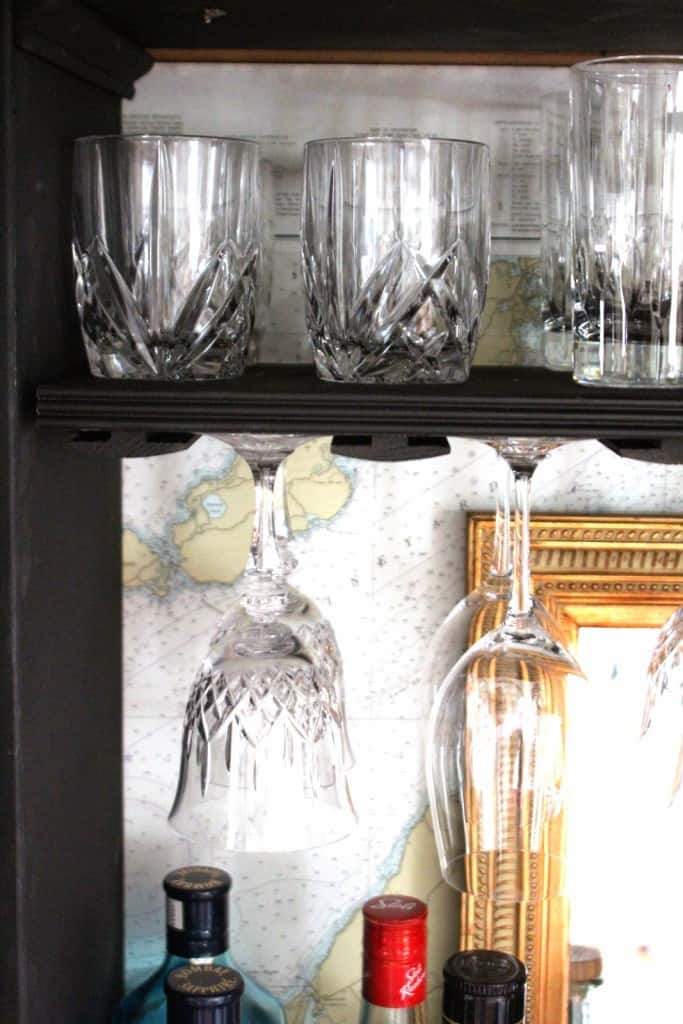 The Upcycling Of An Armoire Into A Bar Cabinet Shine Your Light