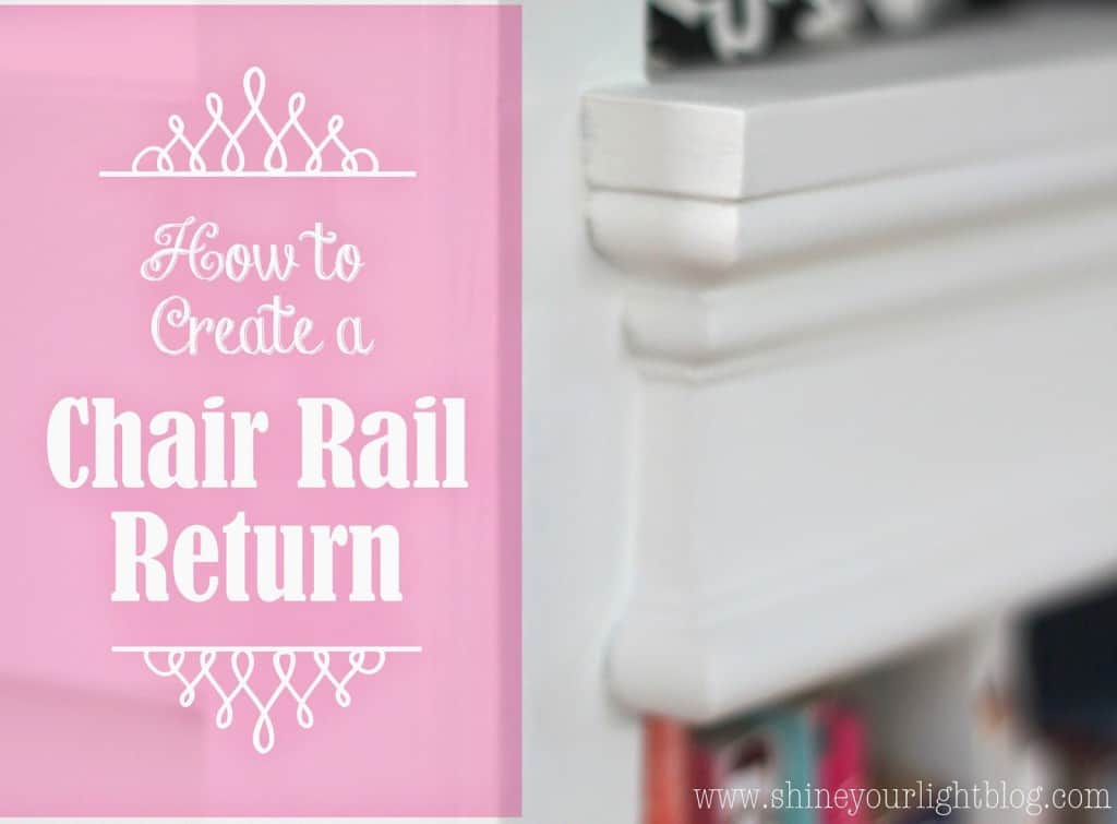 Chair Rail Return Part - 15: To Create The Return, You Are Going To Make The Opposite 45 Degree Cut That  You Made To The Chair Rail, With A 90 Degree Cut On The Other Side Of That  ...