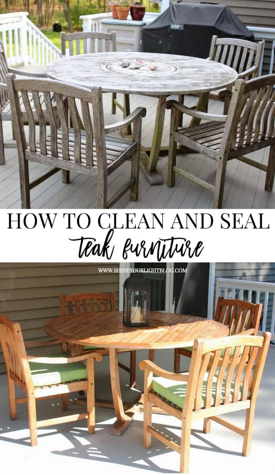 Cleaning Amp Sealing Outdoor Teak Furniture Shine Your Light
