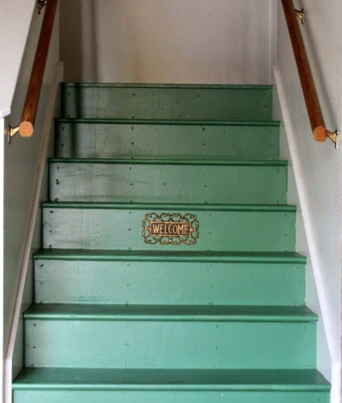 Painted Garage Stairs – Round Two!