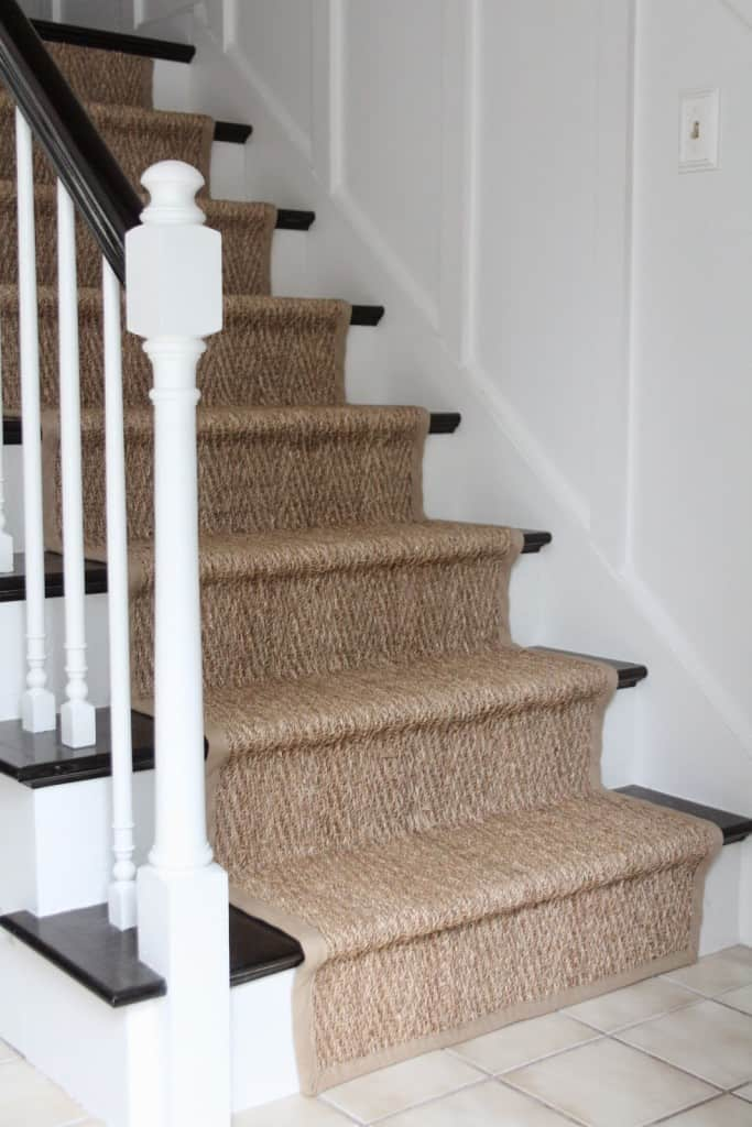 Lighting Basement Washroom Stairs: How Our Natural Fiber Stair Runner Has Held Up