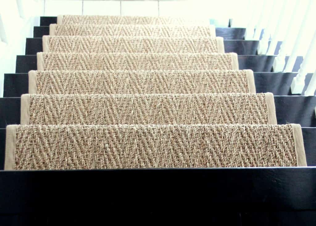 ... Jute Or Seagrass With A Smaller And Tighter Weave, But The Herringbone  Pattern Has A Lot Of Texture. Basket Weave Seagrass Also Would Be A Great  Option.