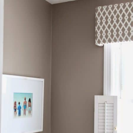 Fabric Covered Cornice Board (& How To Hang It!)