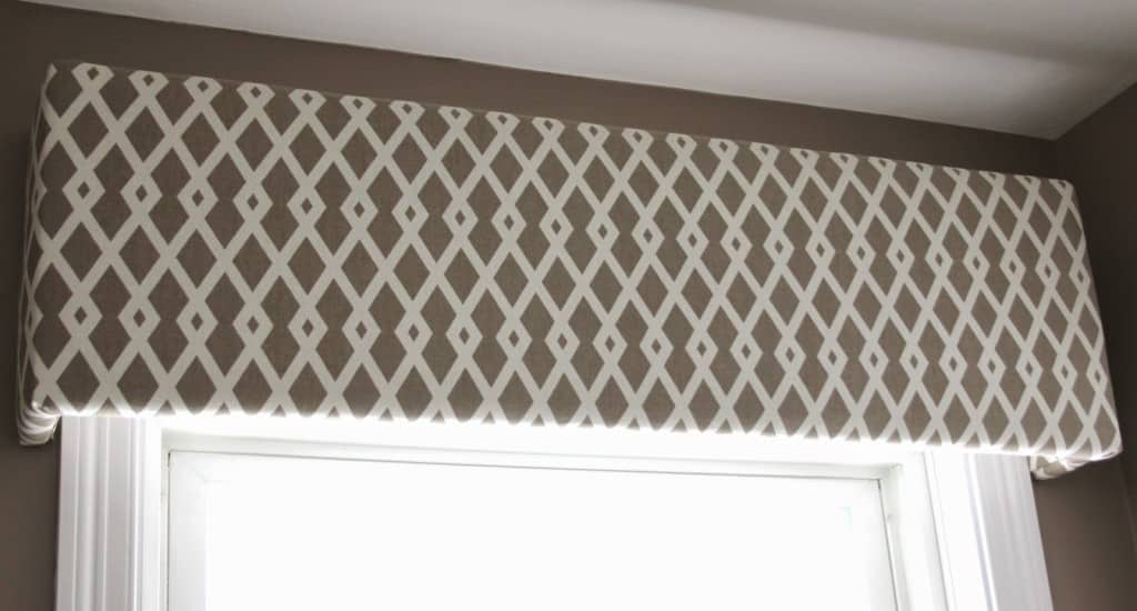 Fabric Covered Cornice Board How To Hang It Shine Your Light - Shine my lights in your bedroom window