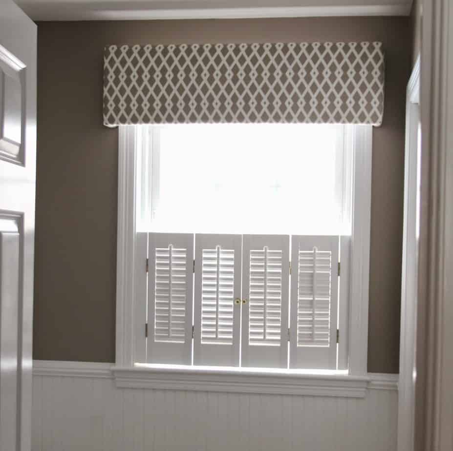 Fabric Covered Cornice Board How To Hang It Shine Your Light