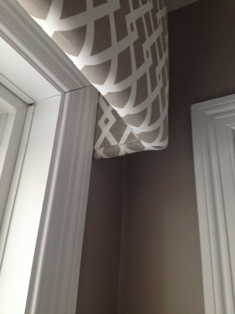 Cornice For Windows Form : Fabric covered cornice board how to hang it shine
