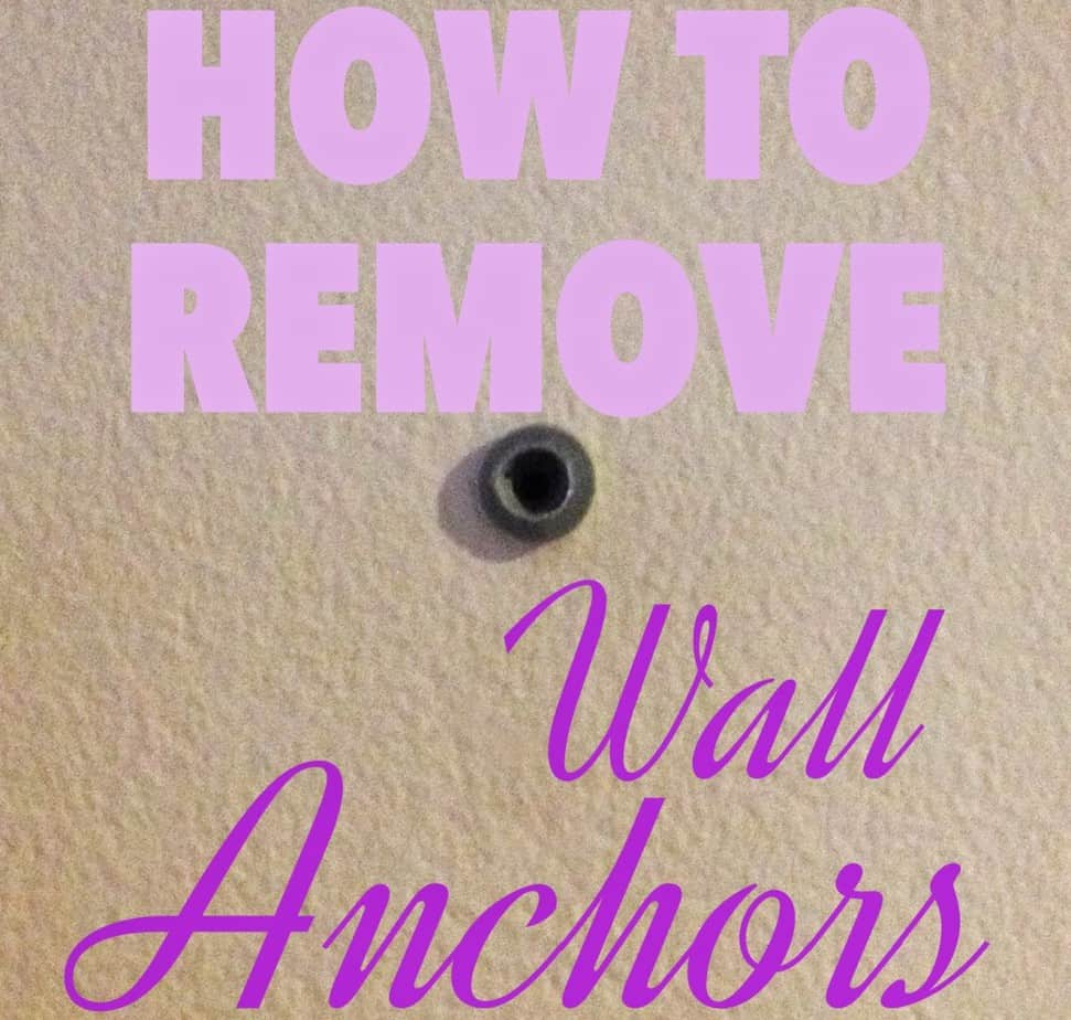 how to remove wall anchors shine your light. Black Bedroom Furniture Sets. Home Design Ideas