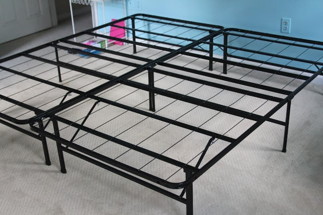 Metal platform for king size mattress.