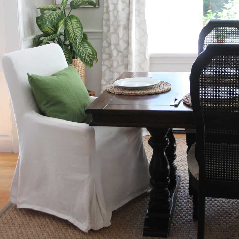 Discontinued Henriksdal armchair with slipcover.