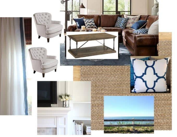 Design board for family room