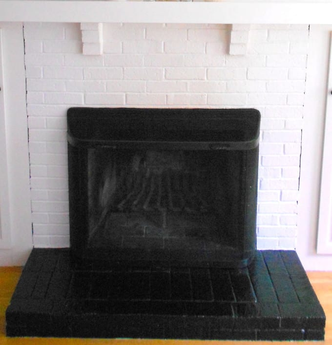 How to tile over a brick hearth shine your light - Tile over brick fireplace ...
