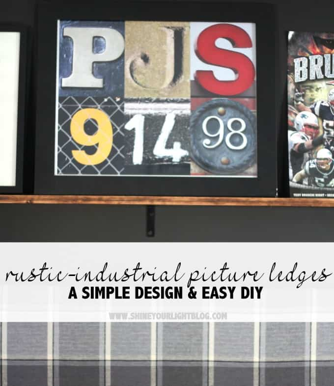 Rustic Industrial Picture Ledges - a simple design and easy DIY!