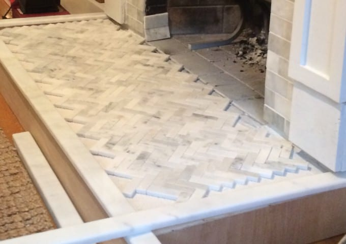 How To Tile A Hearth Our Fireplace Makeover Shine Your Light