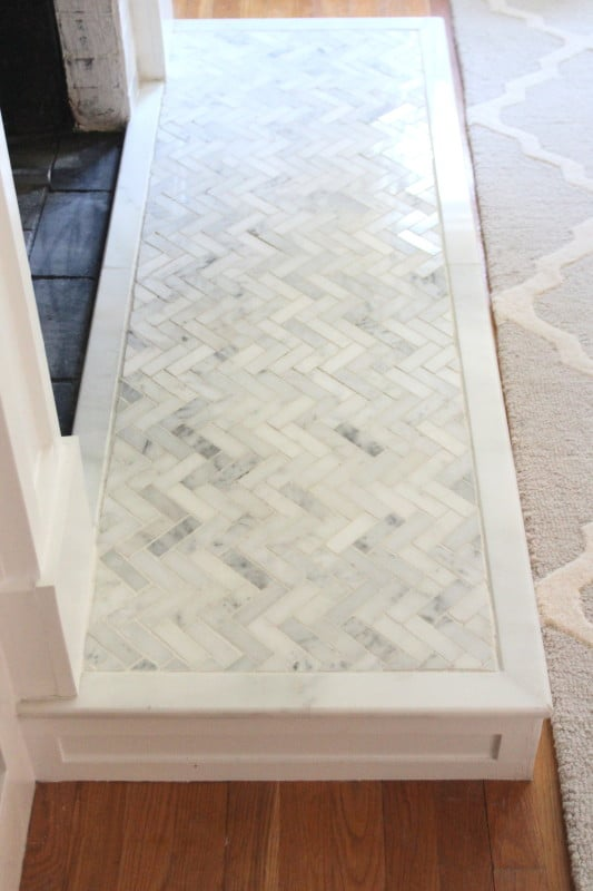How To Tile A Hearth Our Fireplace Makeover Shine Your