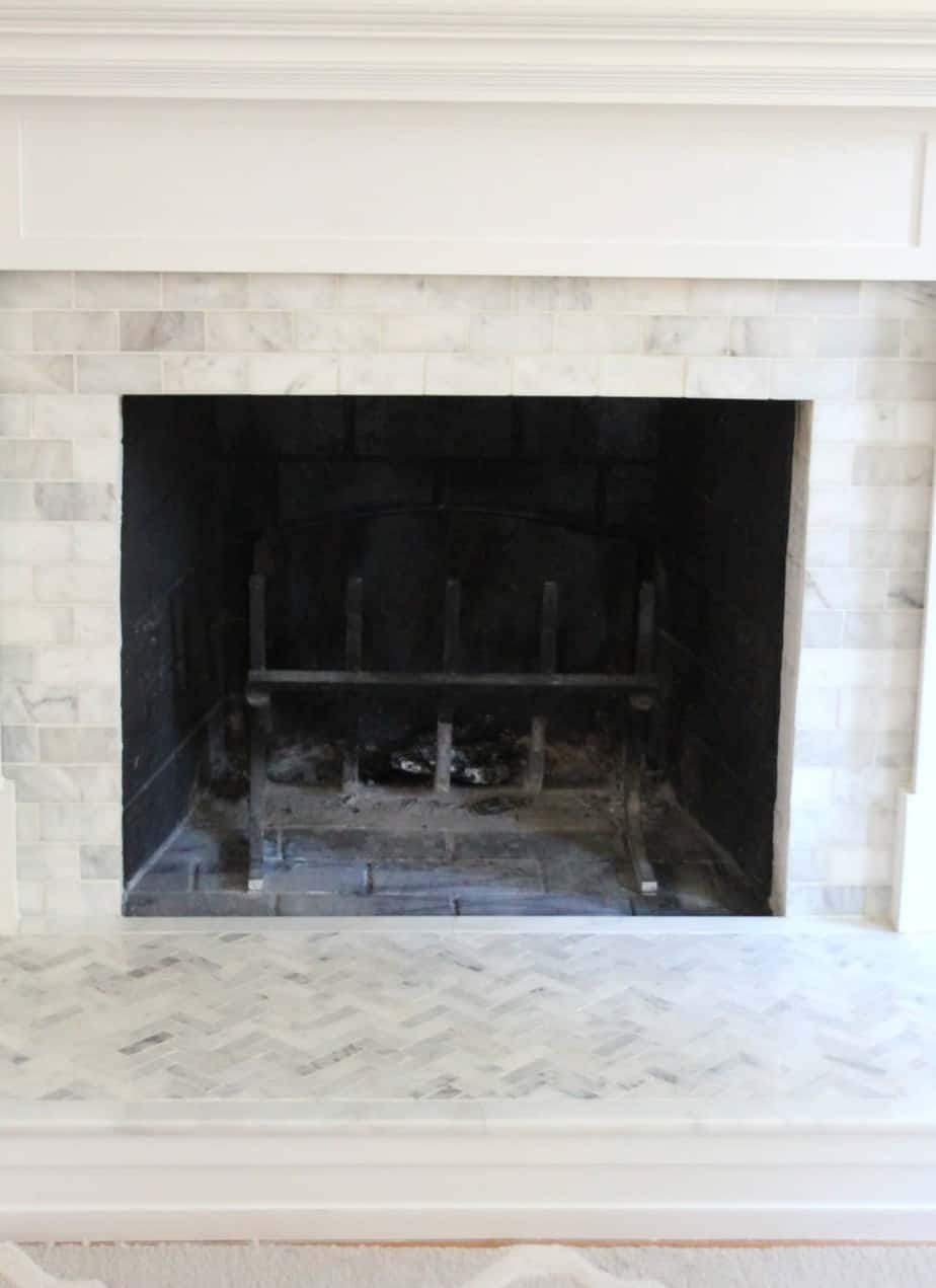 Enjoyable How To Tile Over A Brick Fireplace Surround Shine Your Light Machost Co Dining Chair Design Ideas Machostcouk