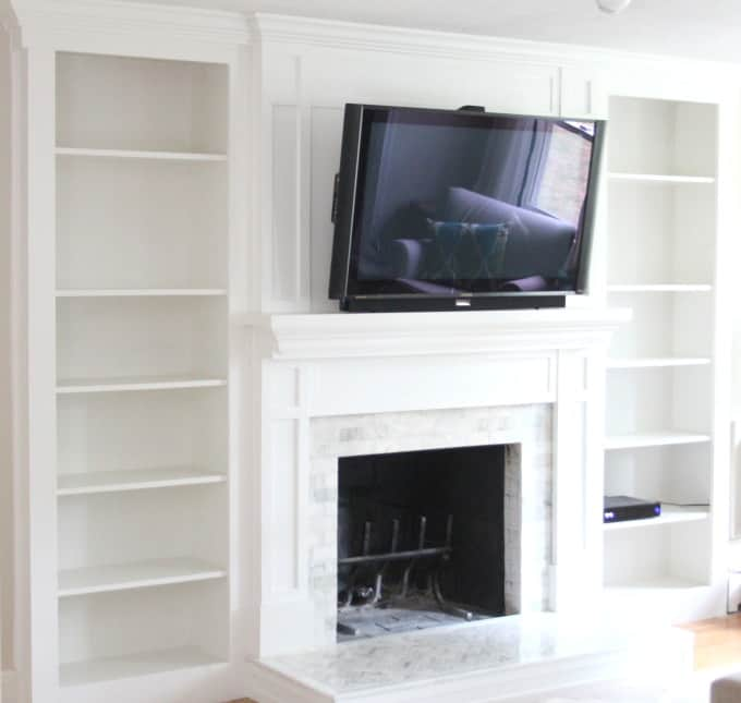 Fireplace makeover tiling the surround shine your light - Covering brick fireplace with tile ...