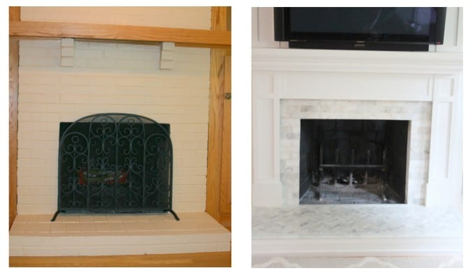 A dramatic fireplace makeover