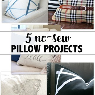 Five no sew pillow projects