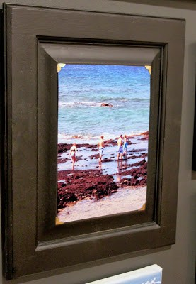 Cabinet doors repurposed as frames