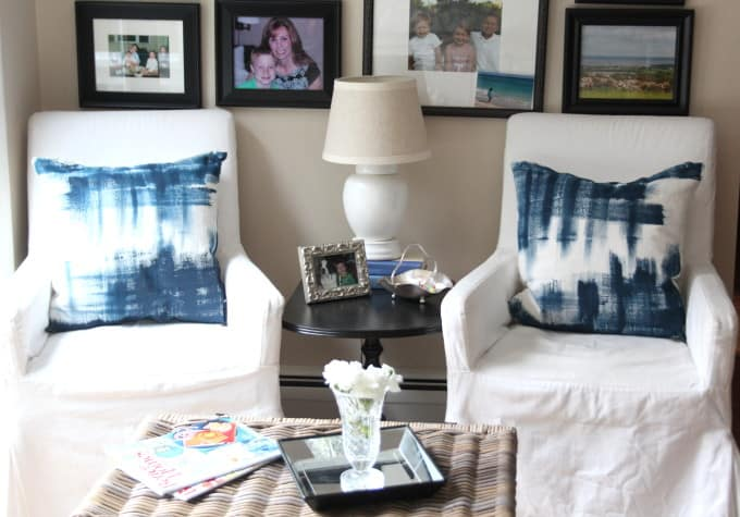 No Sew Painted Pillows