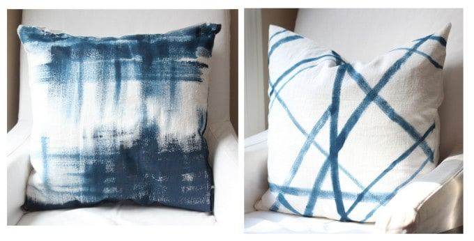Painted No Sew Pillows