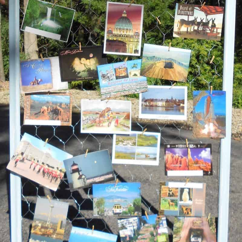 How To Upcycle An Old Frame Into A Postcard Display